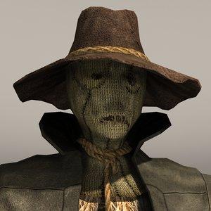 scarecrow crow scare 3d model