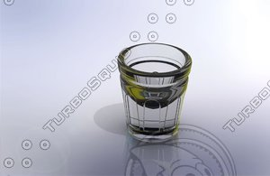 3ds max shot glass