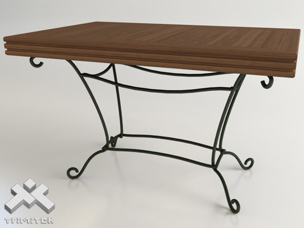 3ds max wrought iron table