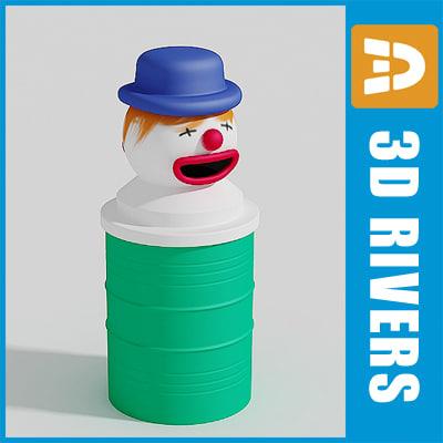 maya clown trash cans