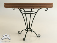 3d wrought iron table model