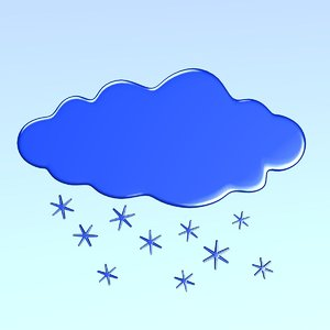 3d model weather icon