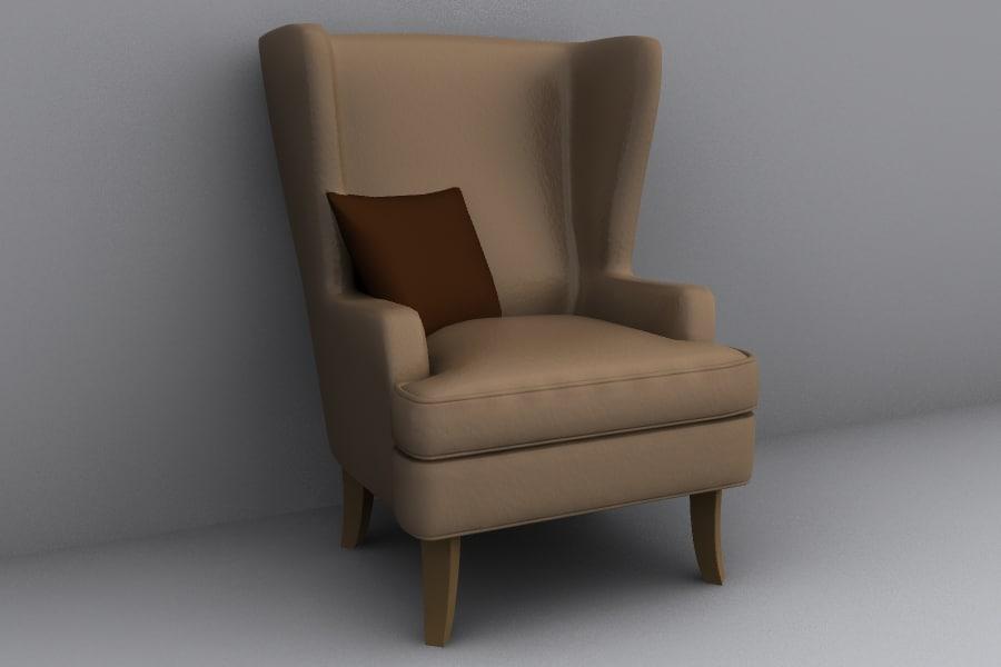 chair armchair 3d lwo