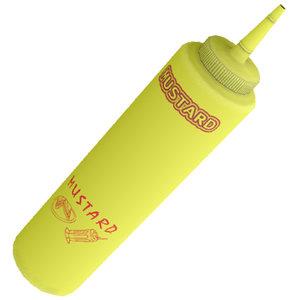 3d model of mustard ketchup bottles