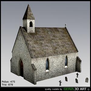 free chapel celtic video 3d model