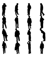 3ds people silhouettes