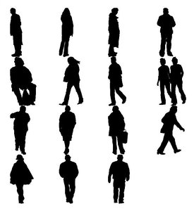 people silhouettes 3ds