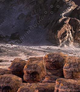 3d model rocks rocky surface