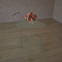 3d model glass table tf 6000