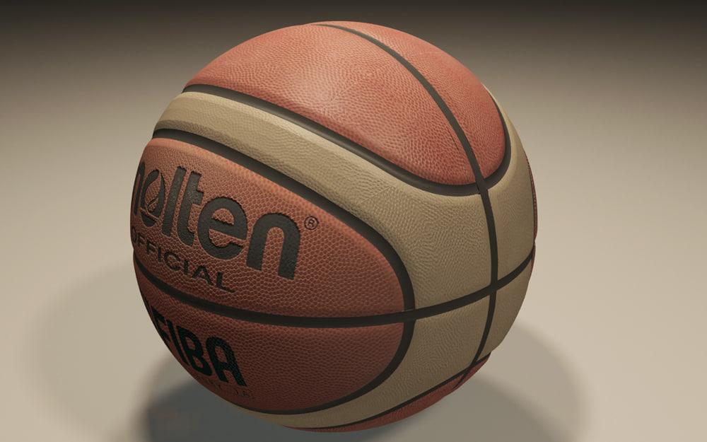 3d official molten basket ball model