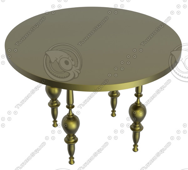 3d model antique rotary table