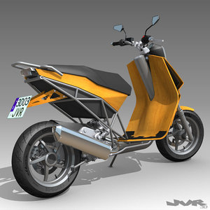 scooter motorcycle 3d model