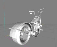 apehanger motorcycle 3d model