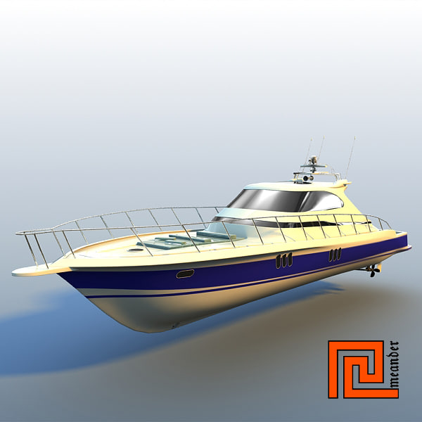 3d yacht mckinna 62 express model