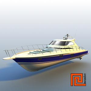 3d yacht mckinna 62 express model