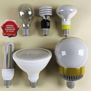 3ds lamps set modelled