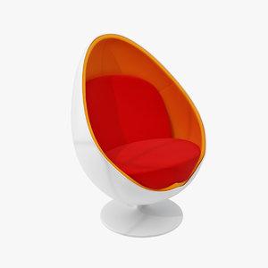 ovalia egg chair 3d model