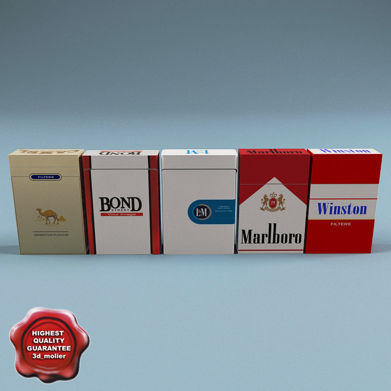 cigarettes bond camel 3d model