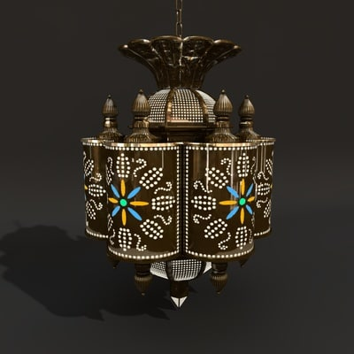 3d model marrakesh latern