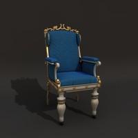 baroque chair - 3d model