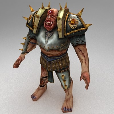 rigged cyclops 3d model