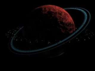 3d dead planet model