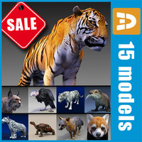 endangered animals tiger condor 3ds