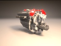 car engine 3d model