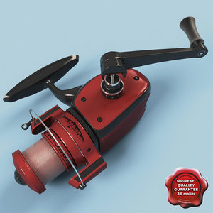 fishing reel 3d max