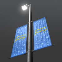 LightPole_WithBanner.mb