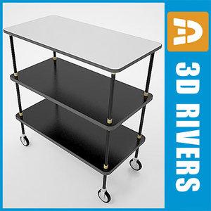 3d model service cart