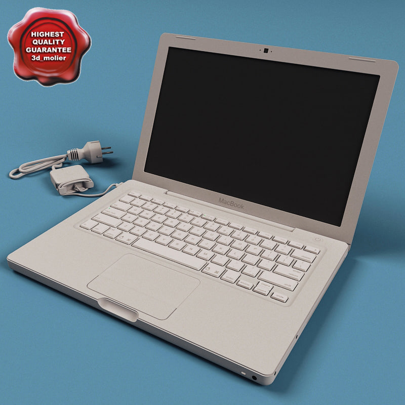 3d macbook modelled