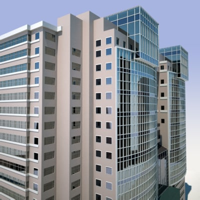 3d building modern sci-fi model