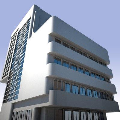 3ds building modern sci-fi