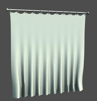 shower curtain obj