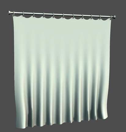 shower curtain obj