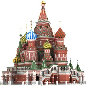moscow st basil s cathedral 3d model