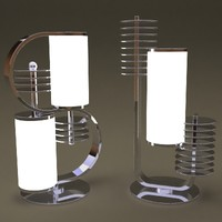 3d retro table lamps model