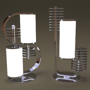 3d retro table lamps model