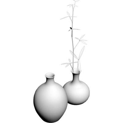 maya bamboo vase