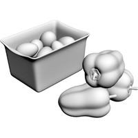 pepper eggs 3d model