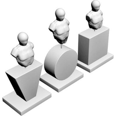 3d model of decorative statuettes