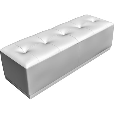 3d model leather bench
