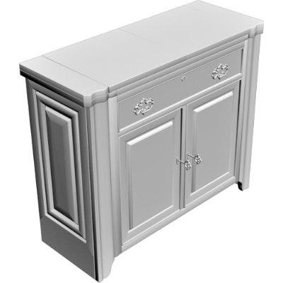 cabinet dresser 3d obj