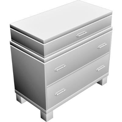 dresser cabinet obj