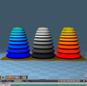 tower hanoi 3d x