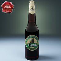 beer botle kozel 3d model