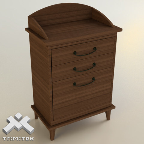 3ds max wooden waiter cabinet
