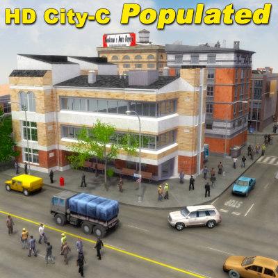 3d city population hd