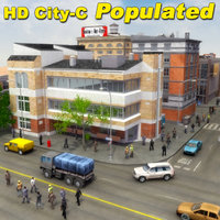 3d city population hd